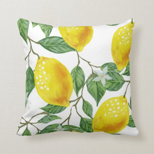 LEMON TREE PILLOW, Yellow & Green Cushion