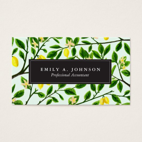 Lemon Tree Print Business Cards