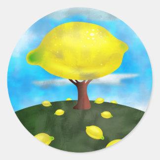 Lemon Tree Round Sticker