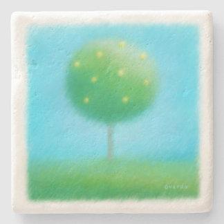 lemon tree stone coaster