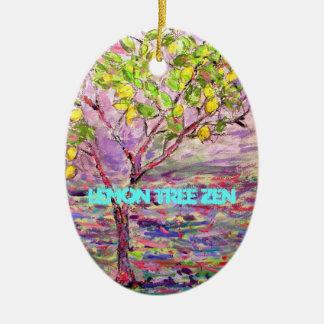 Lemon Tree Zen Ceramic Oval Decoration