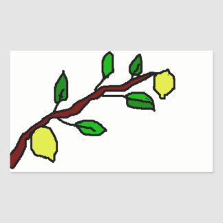 lemon twig rectangular sticker