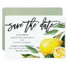 Lemon Watercolor Save the Date Script Card