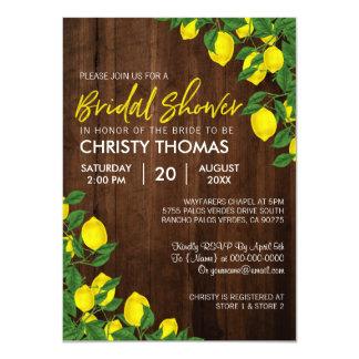 Lemon Wood Summer | Bridal Shower Invite