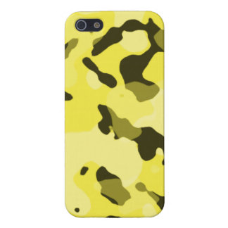 Lemon Yellow Camo; Camouflage Cover For iPhone 5