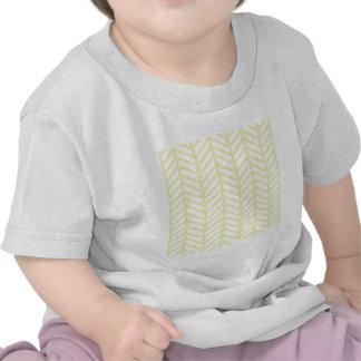 Lemon Yellow Chevron Folders T-shirts