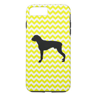Lemon Yellow Chevron With Boxer iPhone 7 Plus Case