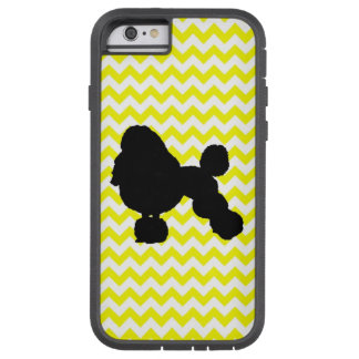 Lemon Yellow Chevron With Poodle Tough Xtreme iPhone 6 Case