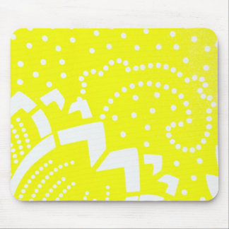 Lemon yellow cirtus graphic dot geometric pattern mouse pad