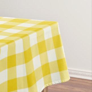 Lemon Yellow Gingham Pattern Check Tablecloth