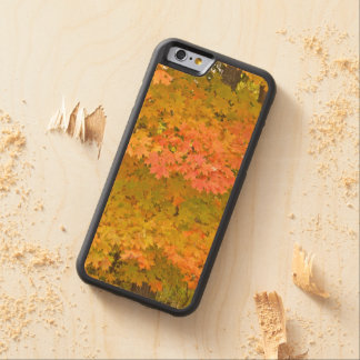 """""""LEMON YELLOW, MARIGOLD, LIME GREEN LEAVES"""" CARVED® MAPLE iPhone 6 BUMPER CASE"""
