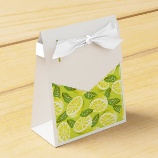 Lemon Yellow Party Favor Box