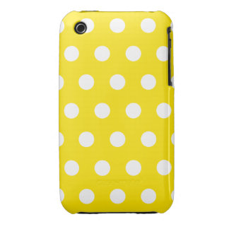 Lemon Yellow Polka Dot iPhone 3G Case iPhone 3 Covers
