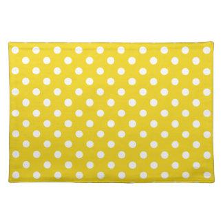 Lemon Yellow Polka Dot Place Mat