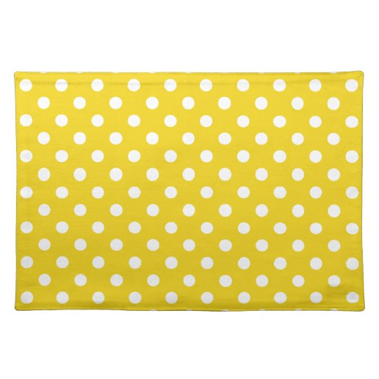 Lemon Yellow Polka Dot Place Mat