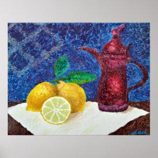 Lemon Yellow Poster