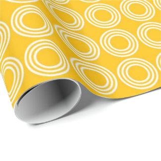 Lemon Yellow Print Wrapping Paper