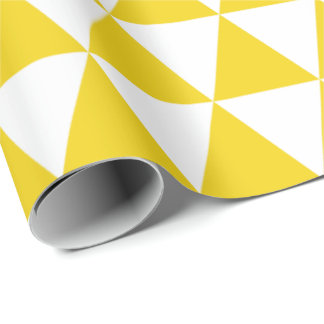 Lemon Yellow Triangles Wrapping Paper