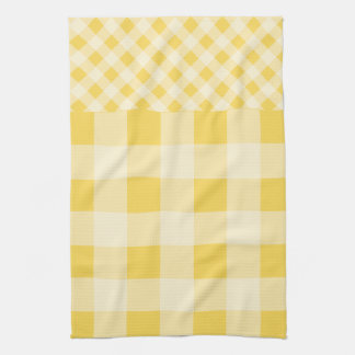 Lemon Zest Gingham pattern Hand Towels