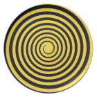 Lemon Zest Yellow & Black Spiral Customised Blank Plate