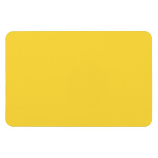 Lemon Zest Yellow Trend Colour Customised Template Magnet