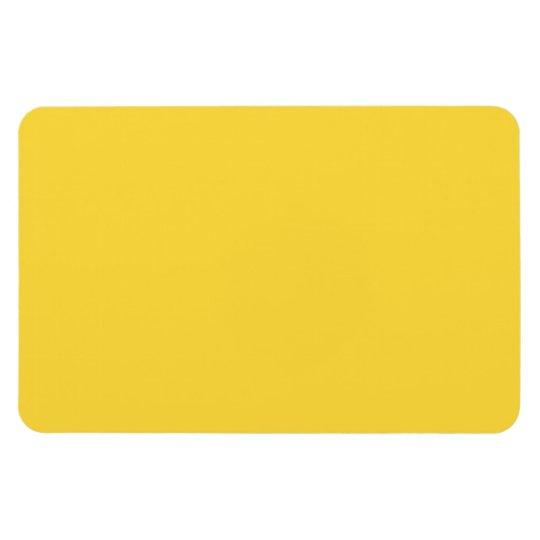 Lemon Zest Yellow Trend Colour Customised Template Rectangular Photo Magnet