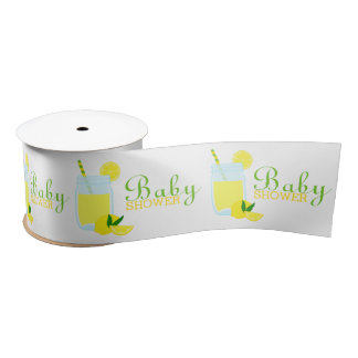Lemonade Baby Shower Satin Ribbon