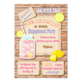 Lemonade & BBQ Engagement Party Invitations