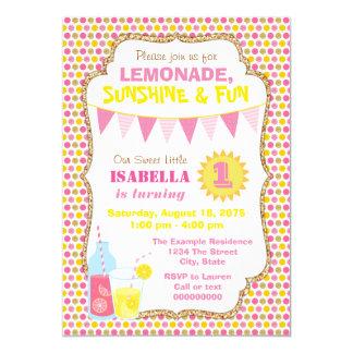 Lemonade Birthday Party Card