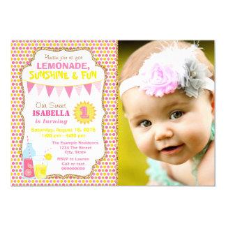 Lemonade Birthday Party Photo Lemonade Party Card