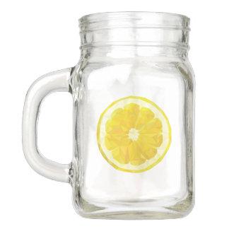 Lemonade Drinkware. Lemon Jar. Mason Jar