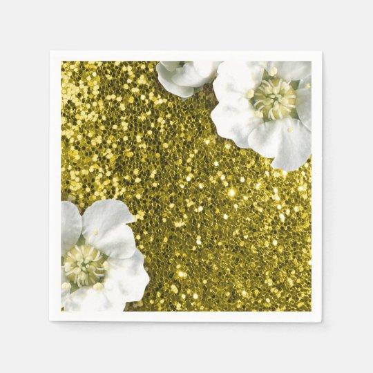 Lemonade Gold Mustard Jasmin Glitter Sequin Sparkl Paper