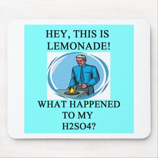 lemonade h2so4 joke mouse pad