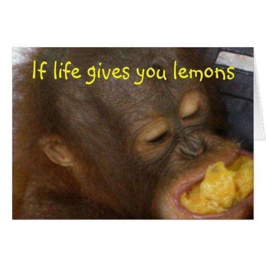 Lemonade: if life gives you lemons card
