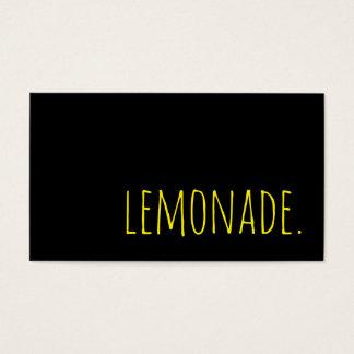lemonade. loyalty punch card