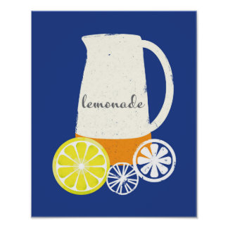 Lemonade Pitcher Poster Art