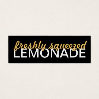 lemonade punch card