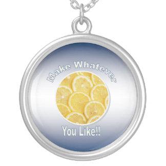Lemonade Silver Necklace - Round