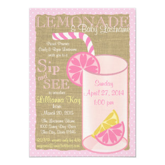 Lemonade Sip and See Card