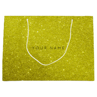 Lemonade Sorrento Mustard Glitter Favor Gift Bag