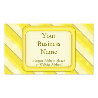 Lemonade Stripes Business Card Templates
