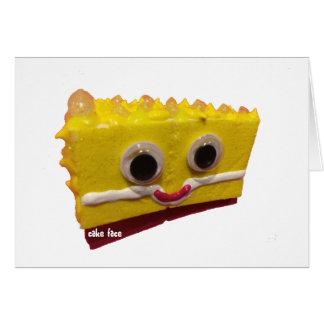 Lemonhead Cake Face Greeting Card