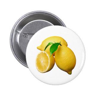 Lemons 6 Cm Round Badge