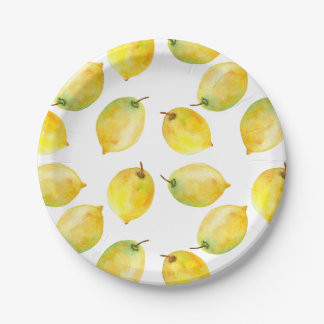 Lemons 7 Inch Paper Plate