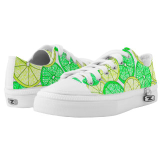 Lemons and Limes Pattern Sneakers