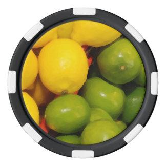 Lemons and Limes Poker Chip Set