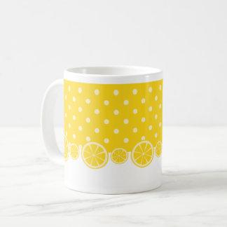 Lemons and Yellow Polkadots Coffee Mug
