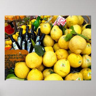 Lemons at Limone at Lake Garda Poster
