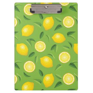 Lemons Background Pattern Clipboard
