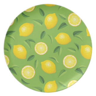 Lemons Background Pattern Dinner Plates